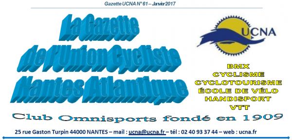 Newsletter « La Gazette de l'UCNA » numéro 61