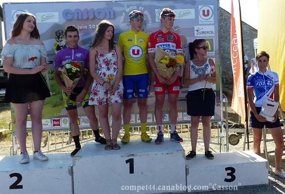 Quentin Chanson remporte l'épreuve de Casson