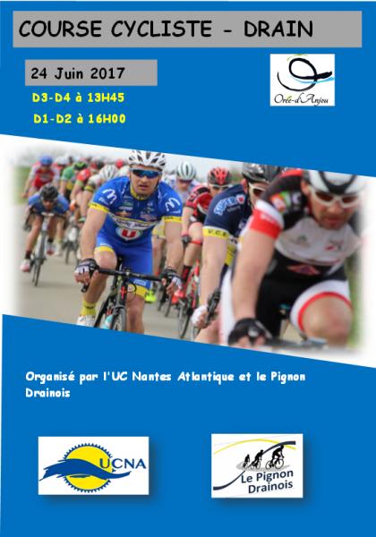 Course Pass'cyclisme de Drain le 24 juin 2017