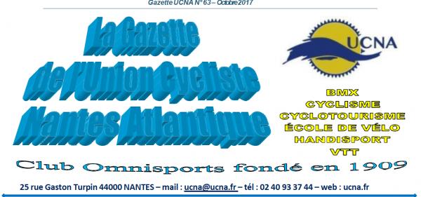 Newsletter « La Gazette de l'UCNA » numéro 63